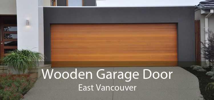 Wooden Garage Door East Vancouver